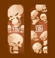 skull pattern dead head crossbones human vector image vector image