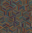 stripe cube vector image vector image