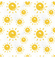 sun seamless pattern colorful summer ornament vector image