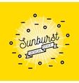 Sunburst Flat Design vector image