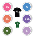t-shirt and size color vector image