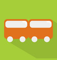 train icon set of great flat icons with style vector image vector image
