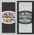 vertical banners for auto parts store vector image vector image
