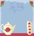 vintage tea party vector image