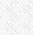 White 3D fastened spirals vector image vector image