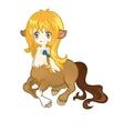 young friendly centaur vector image vector image