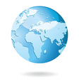 World Map and Globe Detail vector image