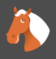 red horse head muzzle hoss isolated on white vector image