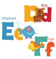 Funny alphabet 2 vector image