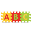 ABC written with alphabet puzzle vector image