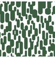 abstract opuncia cacti seamless pattern vector image vector image