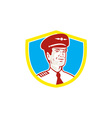 Aircraft Pilot Aviator Shield Retro vector image vector image
