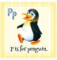 Alphabet P vector image vector image
