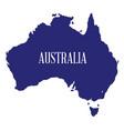 australia map silhouette vector image vector image