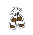 beer doodle icon sticker vector image vector image