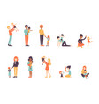 big set family afro vector image vector image