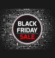 black friday chipset background vector image vector image