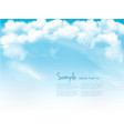 blue sky with clouds background vector image vector image