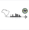 Brazil Skyline Buildings Silhouette Background vector image