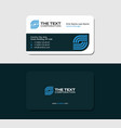 business card internet service provider vector image vector image