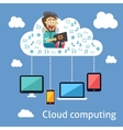Business cloud computing concept vector image