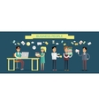 Business People Concept in Flat Design vector image vector image