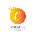 c letter logo design c icon colorful and modern vector image