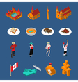 Canada Touristic Icons Set vector image vector image