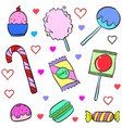 candy various doodles vector image vector image