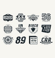 car races and service badges vector image vector image