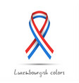 colored ribbon with the luxembourgish tricolor vector image vector image