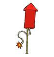 comic cartoon firework vector image vector image