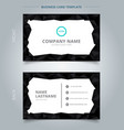 creative business card and name card template vector image vector image