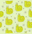 cute little snail seamless pattern fashion kids vector image