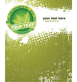 eco label with grunge background vector image vector image