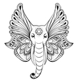 elephant with wings instead ears vector image vector image