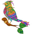 fantasy bird hand drawn doodle adult antistress vector image
