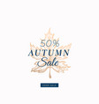 fifty percent autumn sale abstract retro vector image vector image