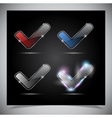 glass glowing transparent icon vector image vector image