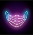 glow face mask protective vector image vector image