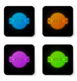 glowing neon barbecue grill icon isolated on vector image vector image