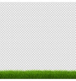 green grass border isolated vector image vector image