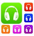 Headphones set color collection