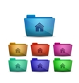 home folder vector image vector image