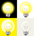 ideas light bulb vector image vector image