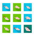 isolated object of touchscreen and hand sign vector image
