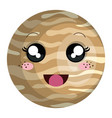 jupiter planet kawaii character vector image