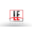 le l e logo letters with red and black colors and vector image vector image
