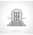 Line icon entrance door vector image vector image