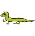 lizard reptile cartoon vector image vector image